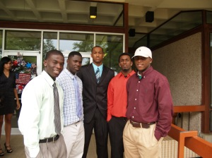 Theo Shaw, Jesse Ray Beard, Bryant Purvis, Corwin Jones and Robert Bailey