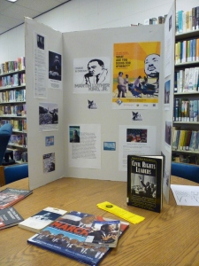 MLK display in the Winona library