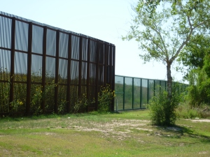 Border wall near Brownsville, Texas