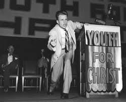 Billy Graham during his Youth for Christ years