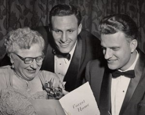 Henrietta Mears with Billy Graham