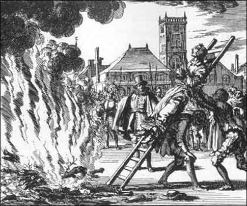 Michael-Sattler burned at the stake