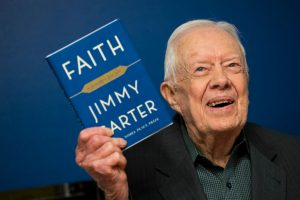 "Jimmy Carter Signs Copies Of His New Book ""Faith: A Journey For All"""